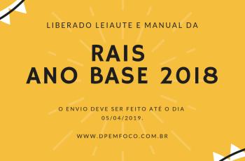 Entrega da RAIS 2018 (Ano calendário 2019)