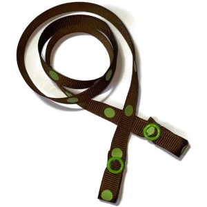 brown with green dots mask strap