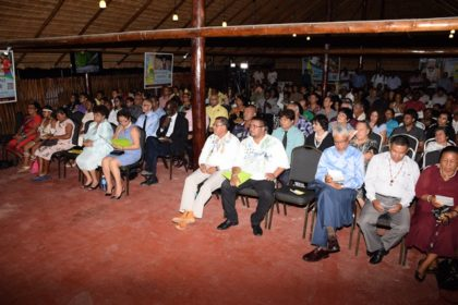 A section of those gathered at the Launch of the Rupununi Essence at the Sophia Exhibition Centre