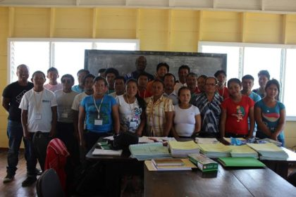 Participants at the 'Train the Trainer' programme, Kato, Region Eight