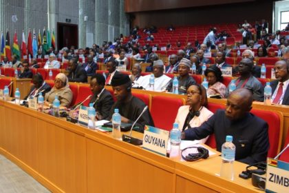 Guyanese team participating at the ACP 8th Summit of Heads of State