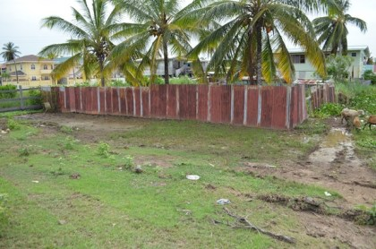 Land which was inundated – now draining