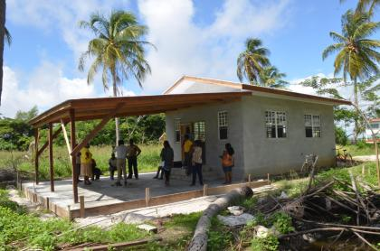 The building that is being constructed for the Women For Change of Hopetown, Region Five