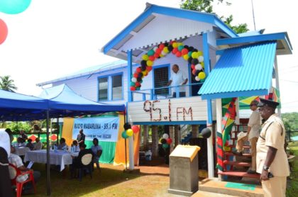The decorated building that houses Radio Mabaruma