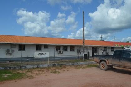 The Kwakwani hospital that has seen some rehabilitation work