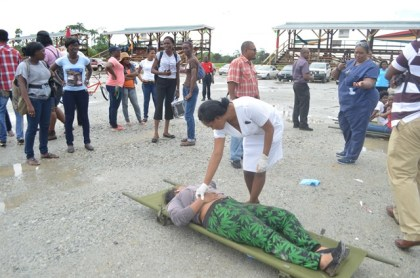 A Civil Defence Commission sponsored medical drill exercise held in May as part of disaster preparedness and response in disaster risk reduction