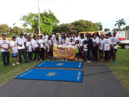 Participants of the World Sickle Cell Awareness Day 2016 walk and run