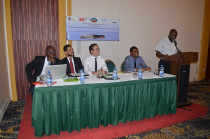 Permanent Secretary, Ministry of Agriculture, George Jervis addressing the National Consultation on Climate Change at the Pegasus Hotel, Kingston