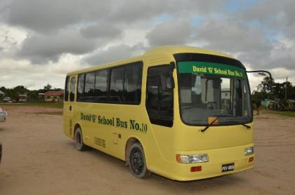 David G No. 10- the 10th school bus to be commissioned under the Five Bs programme