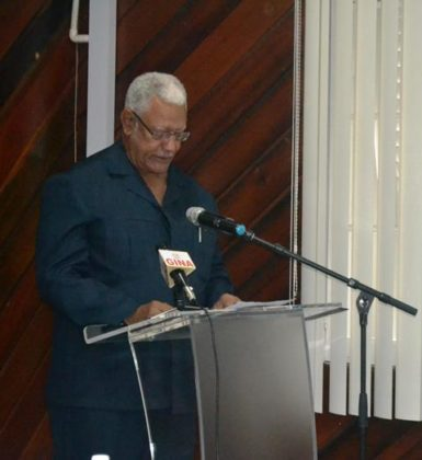 Minister Holder while delivering his remarks at the ADRM Workshop  .JPG-june16