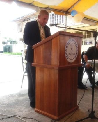 Public Health Minister Dr George Norton addresses nurses on International Nurses Day