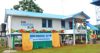 The building that houses Radio Mabaruma, Region One