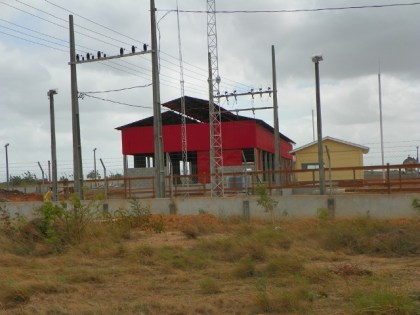The new power station at the industrial site at Bon Success, Lethem