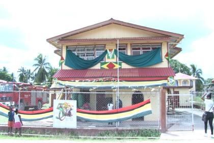 Rehabilitated Regional Democratic Council (RDC) building, Kwakwani