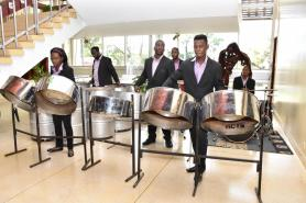 The National Steel Orchestra performing in the auditorium of the National Cultural Centre