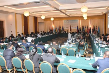 Delegates  during second day session of the Hague Conference  on Private International Law