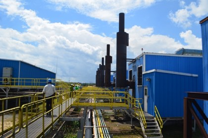The power plant operated by Bosai