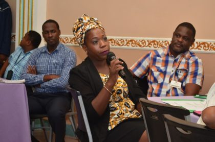Diana John-Baptiste, stakeholder representing Guyana Gold Mines at the Technical and Vocational Education consultation
