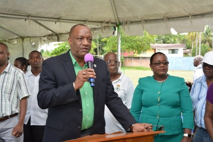 Minister of State, Mr. Joseph Harmon told residents gathered at the Mckenzie Sports Club ground for the Meet the Public Day initiative that he was there to do what Government is suppose to do.  More than 400 people turned up during the course of the day.