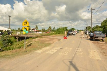 The 8.2 km Parika all weather road and bridge project