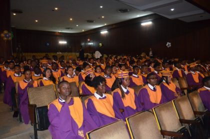 A section of the Youth Entrepreneurial Skills Training Programme graduates