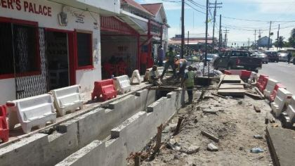 Work ongoing on another section of the  West Coast Demerara road