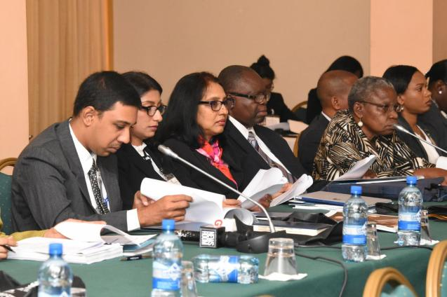 Delegates during the first day of the Hague Child Abduction Convention