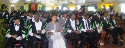 A section of the students during the graduation ceremony
