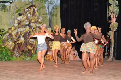 'Children of Africa'; one of the dances, which was performed this evening at the National Cultural Centre, as the students and members of the National Dance Company, staged their 'A celebration of African Heritage 9' Dance Production.