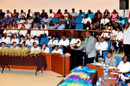 Minister Joseph Harmon urged the graduates to commit themselves to selfless and dedicated service.