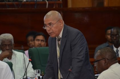Minister of Public Health Dr. George Norton in Parliament