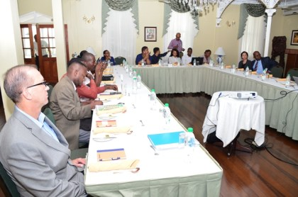 Members of the media and officials of Exxon Mobil at the media luncheon at Cara Lodge