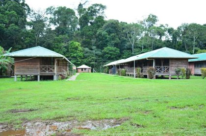Visitors' quarters at the Iwokrama International Centre for Rainforest Conservation and Development