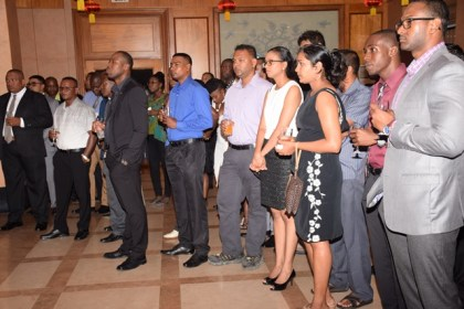 A section of the guests at the reception for the most recent batch of Guyanese who completed training in China
