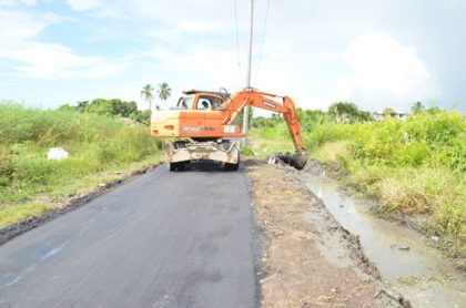 Ongoing drainage works at Louisa Rowe, Georgetown
