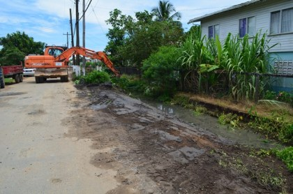 Road works carried out on the Mocha Arcadia  road