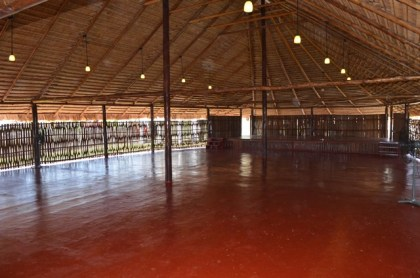 The inside of the main building painted and ready for Heritage activities at the Heritage village at the Sophia Exhibition complex compound, Georgetown