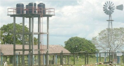 A solar powered water system in the hinterland