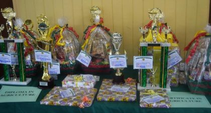 Some of the prizes that were given out to the graduating students