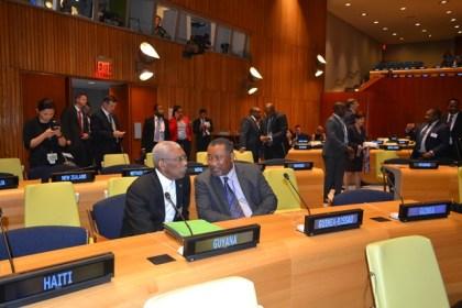 President David Granger with Guyana's Permanent Representative to the United Nations, Ambassador Rudolph Michael Ten-Pow