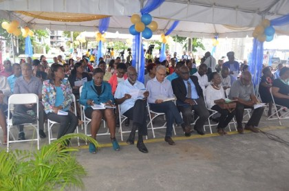Ministers of Education, education officials, teachers, students and stakeholders at the Literacy Extravaganza in honour of International Literacy Day