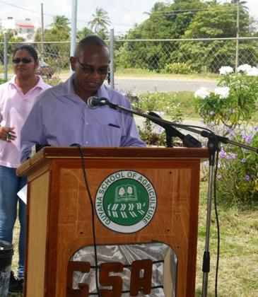 CEO of GSA Mr. Brian Greenidge while delivering remarks at the commissioning