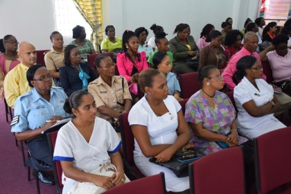 Some of the persons attending the Breast Cancer Sensitisation seminar