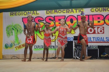 A local indigenous group performs at Essequibo Night 2016