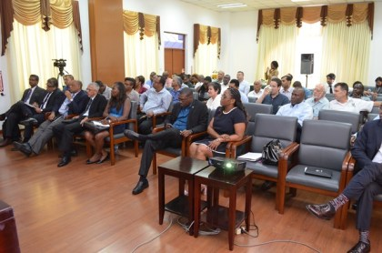 Stakeholders at the presentation.