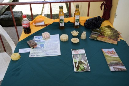 A display of items produced from bees wax gathered from the Mangrove restoration project spearheaded by NAREI