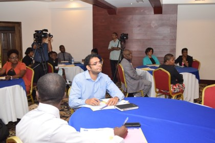 Some of the participants at the CARIFORUM competition training workshop