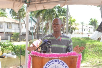 Dr. Morris Edwards, speaks on the impact of breast cancer in the Guyana and the Caribbean.