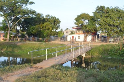 One of the bridges constructed by the residents of the community through self-help