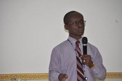 PAHO/WHO country representative Dr. William Adu-Krow